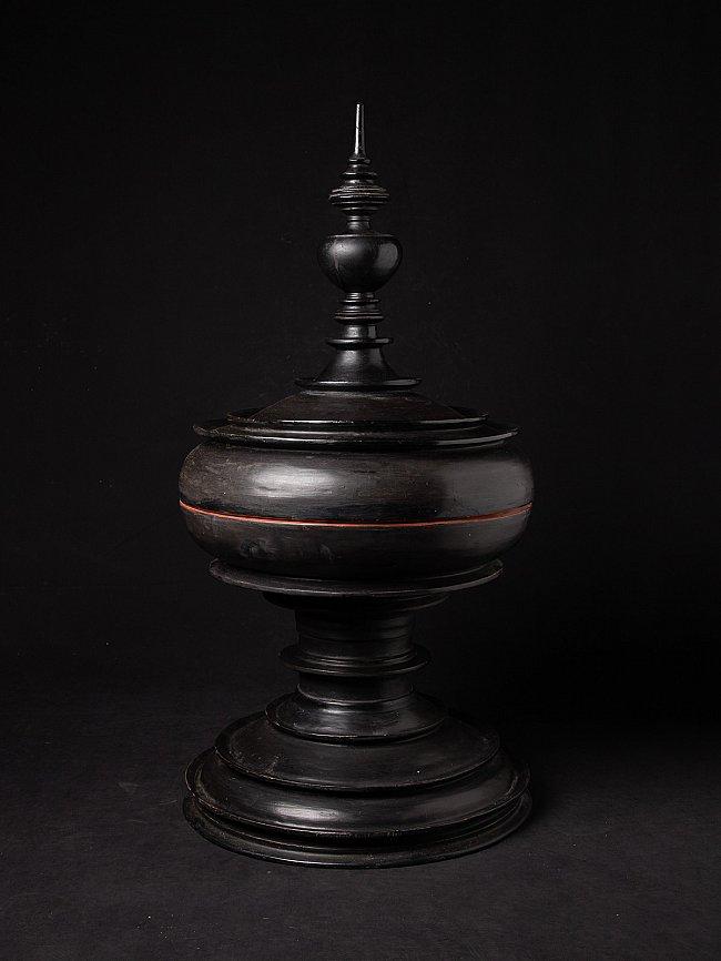 Large antique Burmese offering vessel