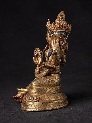 Antique Nepali bronze Basundara statue