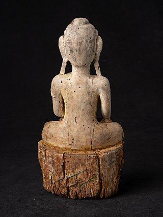 Antiek Birmees houten Boeddhabeeld