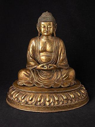 Antique Japanese Amida Buddha statue