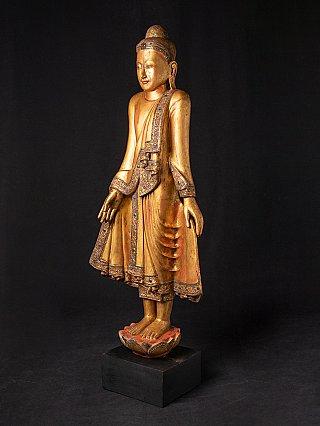 Large antique Burmese Mandalay Buddha statue