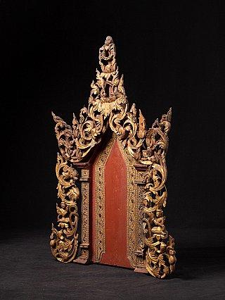Antike burmesische Tempel Panel