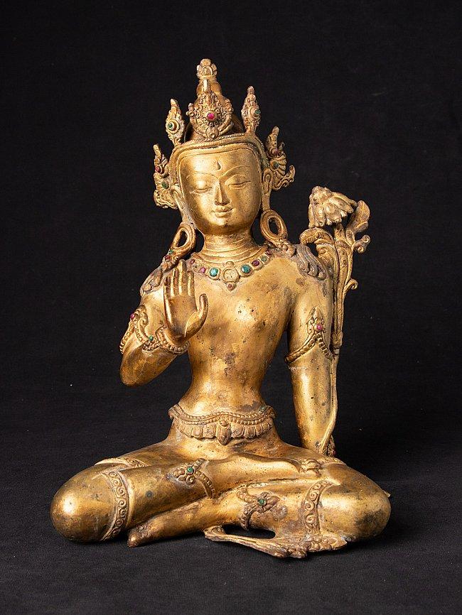 Old bronze Nepali Lokeshwor statue