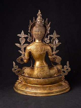 Large old bronze Tara statue