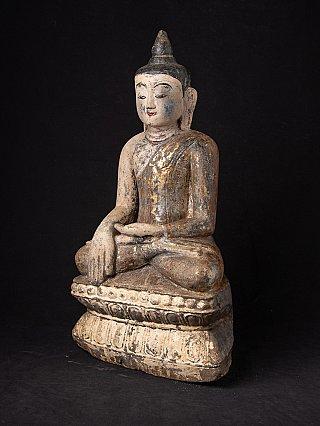Antique Burmese sandstone Buddha statue