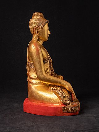 Antique wooden Mandalay Buddha