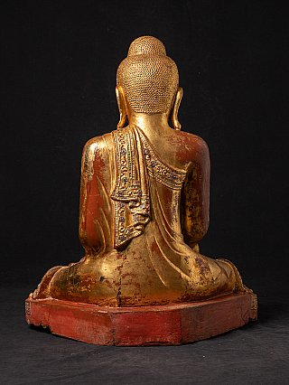 Large antique Mandalay Buddha statue