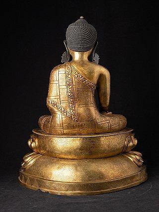 Grote oude bronzen Nepalese Boeddha