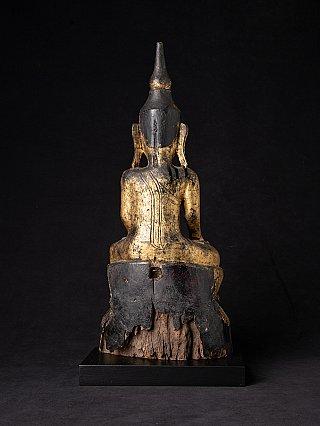 Antique wooden Shan Buddha