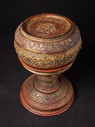 Antique gilded Burmese offering vessel