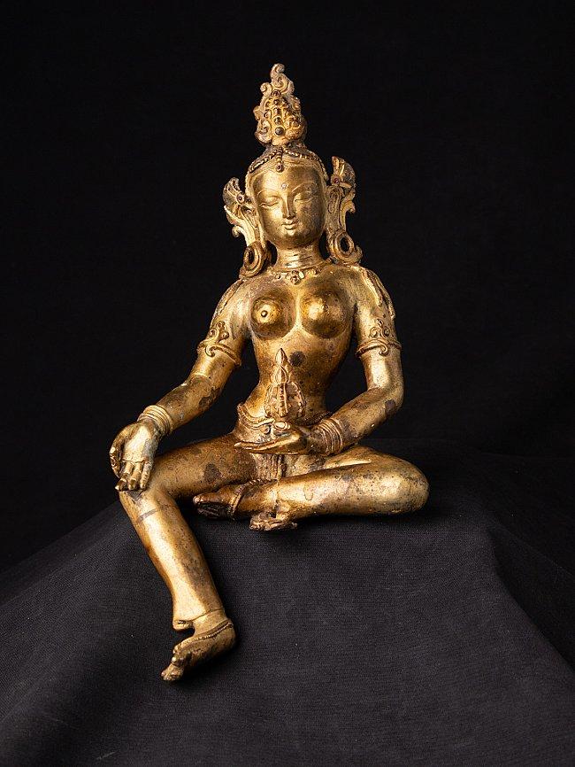 Old bronze Basundhara statue