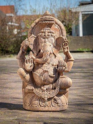 Large old Sandstone Ganesha statue