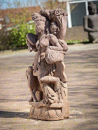 Alte Sandstein Apsara Figur
