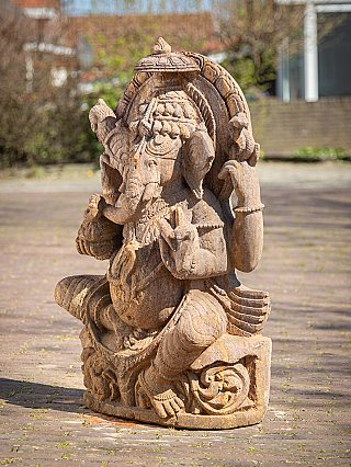 Old sandstone Ganesha statue