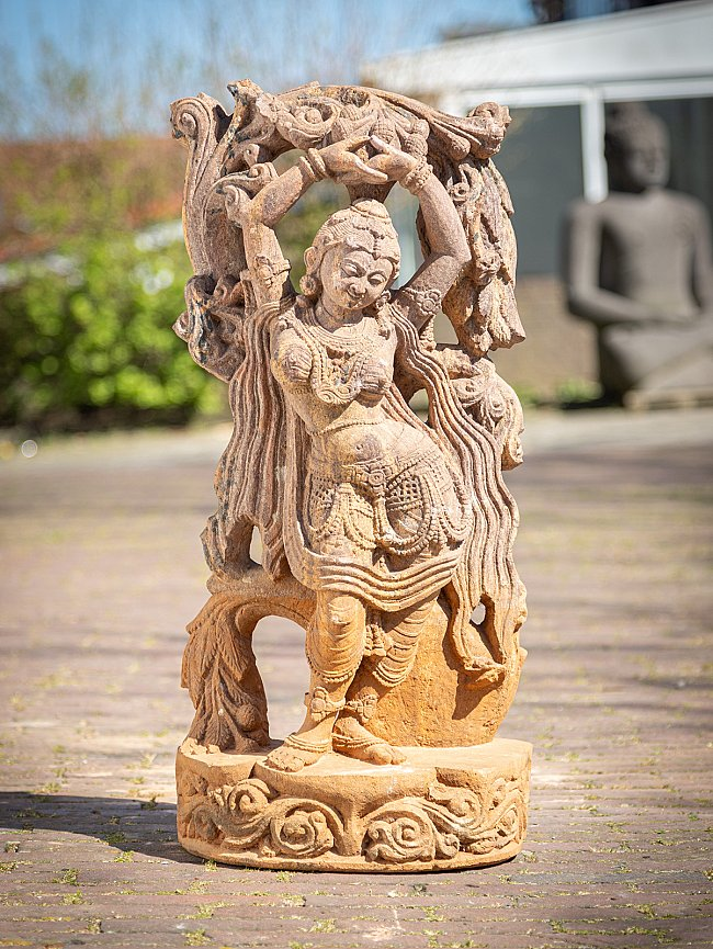 Old sandstone Absara lady statue