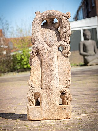 Old Indian sandstone lady statue