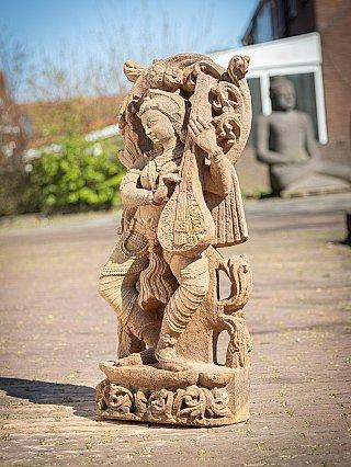 Old sandstone Saraswati statue