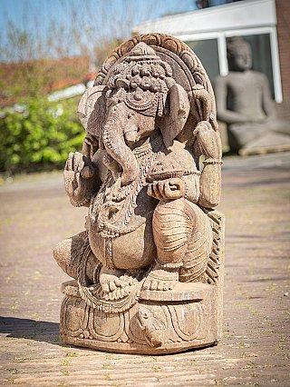 Alte Sandstein Ganesha Figur