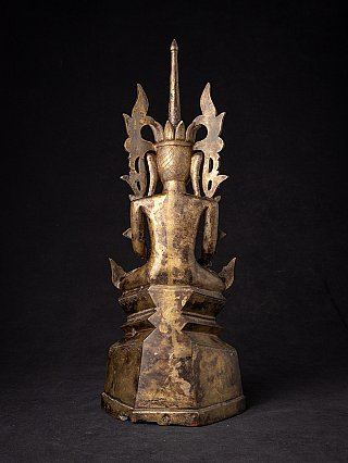 Antique crowned bronze Shan Buddha