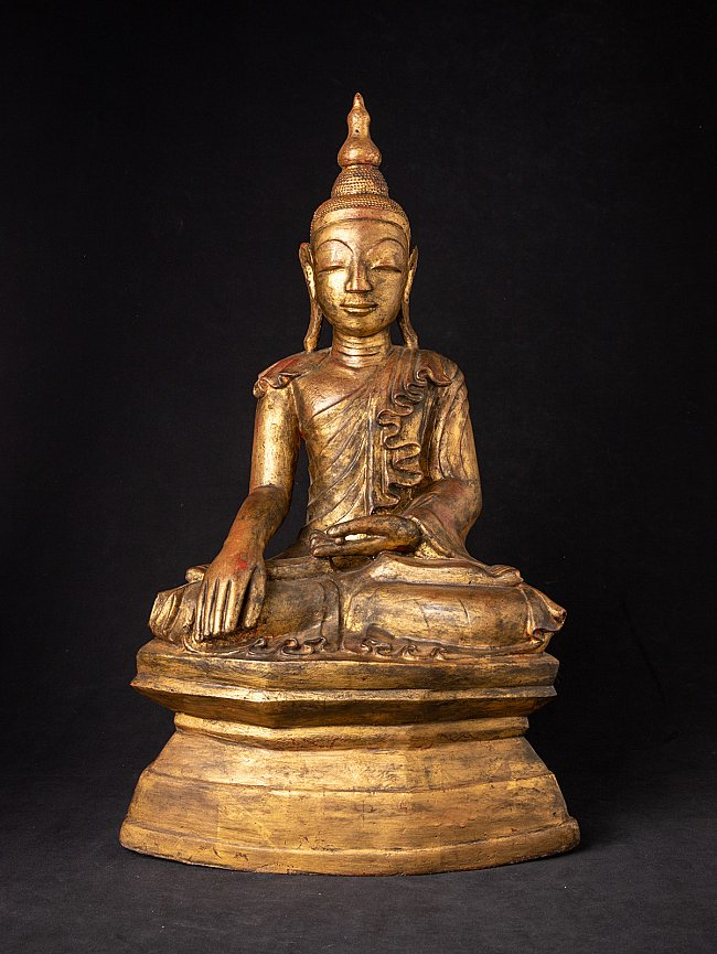 Antique bronze Burmese Shan Buddha