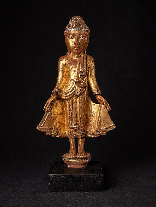 Antique wooden Mandalay Buddha statue