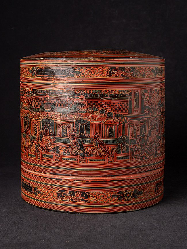 Antieke Birmese betelnoten doos