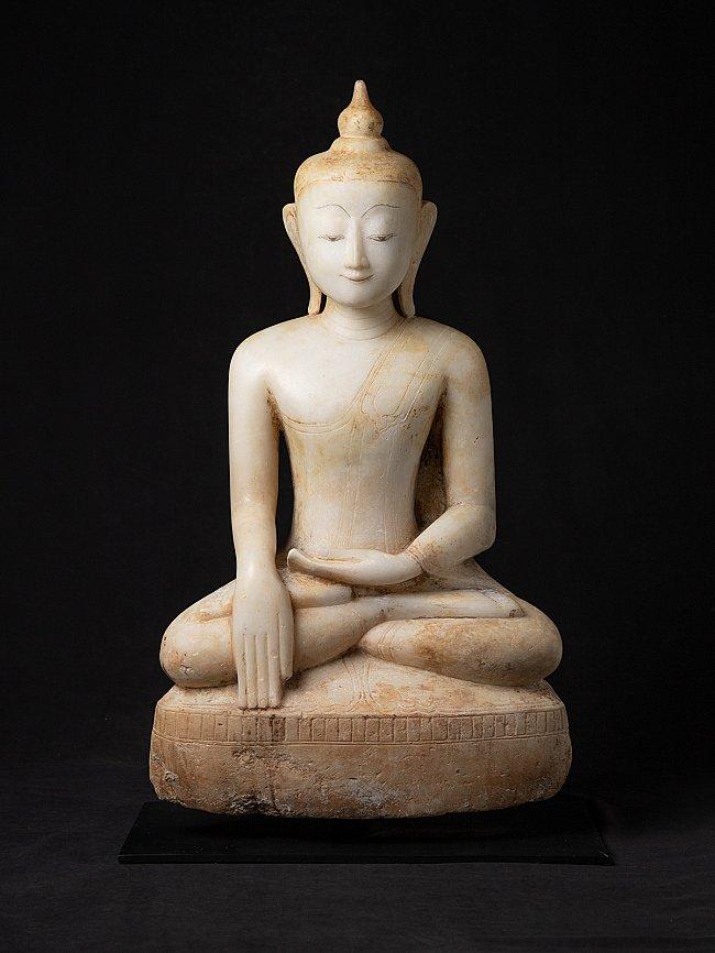 Bijzondere Birmese alabaster Boeddhabeeld