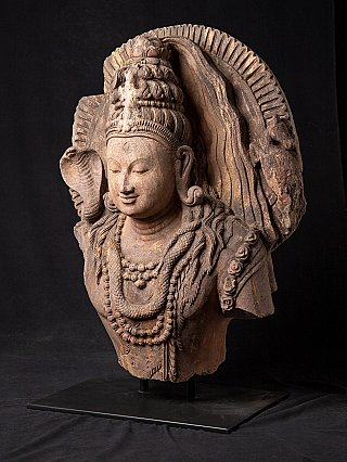 Antique sandstone Shiva bust