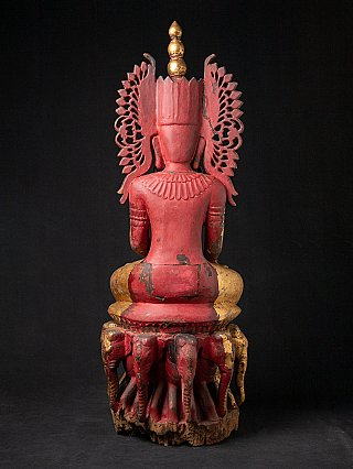 Large antique crowned Buddha statue