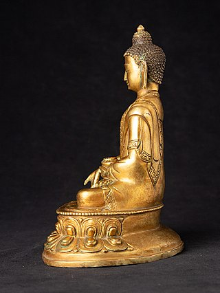 Oude Nepalese bronzen Boeddha