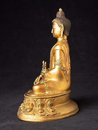 Old bronze Nepali Medicine Buddha statue