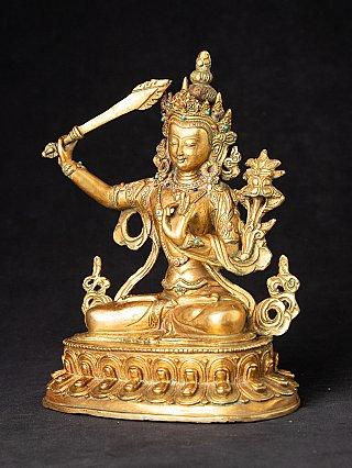 Old bronze Manjushri statue