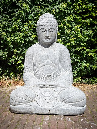Andesite stone Buddha statue