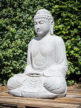 Groot andesiet stenen Boeddhabeeld