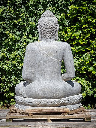 Large andesite stone Buddha statue