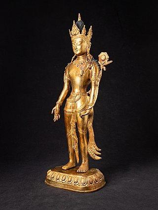 Old Nepali bronze Lokeshwor statue
