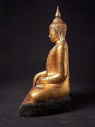 Oud houten Birmees Boeddhabeeld