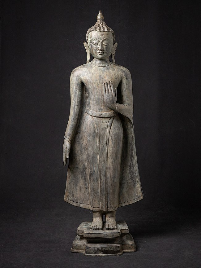 Large old bronze Buddha statue