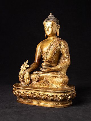 Alte bronze Nepalesische Medizin Buddhafigur