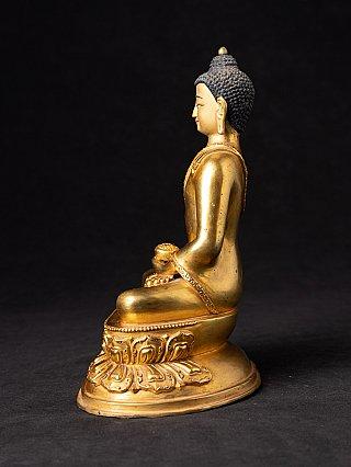Oude vergulde Nepalese Boeddha