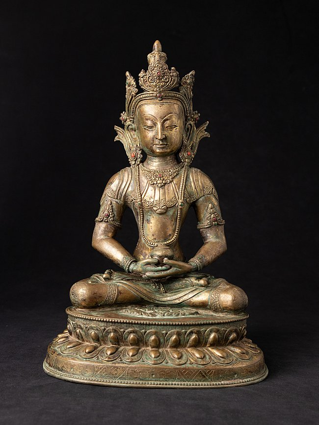 Antique Nepali bronze Buddha statue