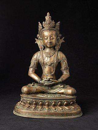 Antiek Nepalees bronzen Boeddhabeeld