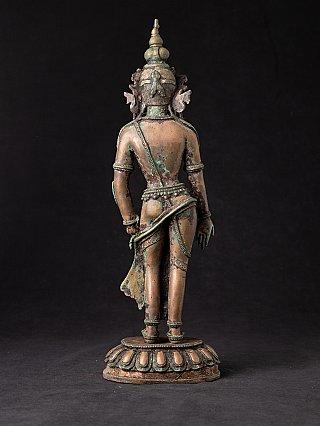 Old standing bronze Bodhisattva Avalokiteshvara