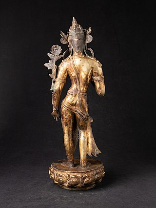Antique bronze Nepali Lokeshwor statue