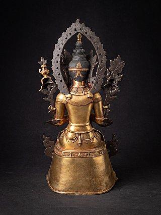 Old bronze Nepali Maitreya Buddha