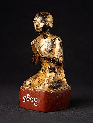 Antieke Birmese houten monnik