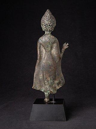 Zeer bijzondere originele bronzen Bagan Boeddha