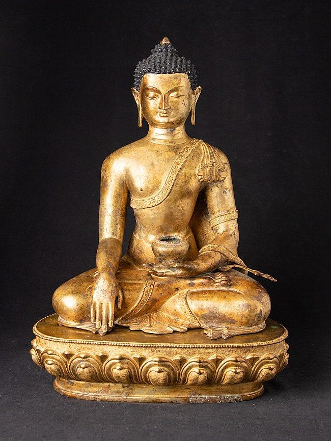 High quality old bronze Nepali Buddha
