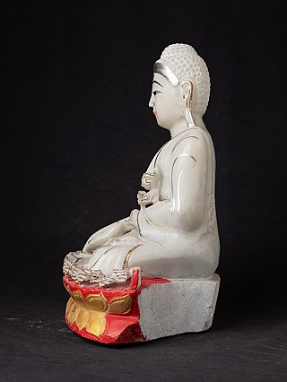 Newly hand carved marble Mandalay Buddha
