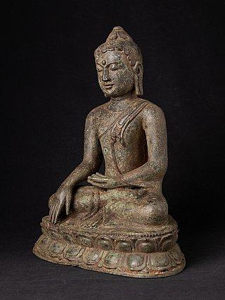 Antike bronze Birmanische Lotus Buddha